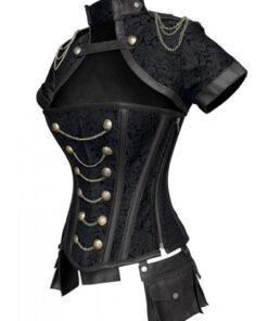 Black corset dress