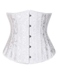 White corset dress