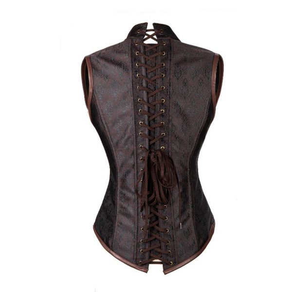 Brown Gothic 10 Steel Bones Steampunk Corset 3