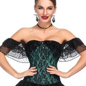 Green dashiki dress