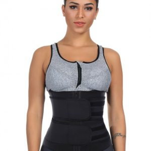 Big Size Black Latex Waist Slimmer With Sticker Tummy Control