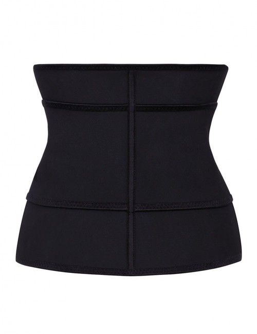 Instantly Slims Black Zipper Hook Latex Waist Shaper Queen Size