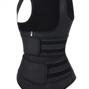 Slender Black Latex Double Belts Sticker Vest Shaper Big Size Slim Shape