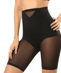 Best Tummy Black Waist Double-Layered Mesh Butt Lifter Natural Shaping