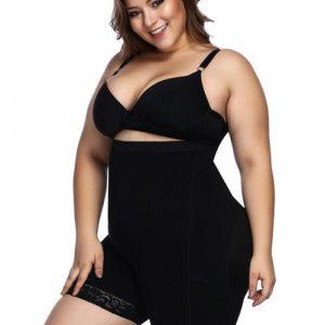 Black Anti-Curl Material Shapewear Butt Enhancer Posture Corrector