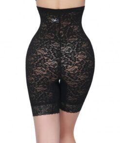 Black Hip Abdomen Tummy Control High Waist Soothing Underwear Panty