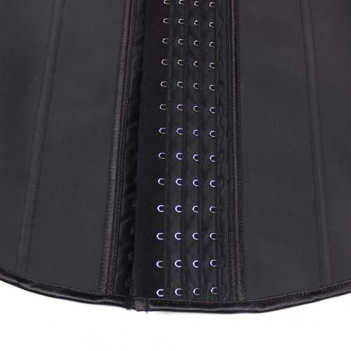 Black Waist Cincher Vest 4 Rows of Hooks Fajas Colombianas