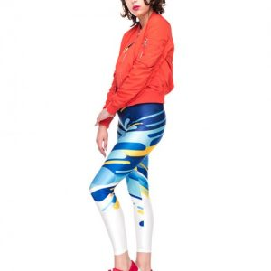 Captivating Digtal Simple Print Legging Tight Fit Moisture Wicking