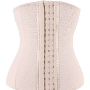 Cheap Milky Neoprene Steel Boned Lattice Pattern Fajas Waist Trainer