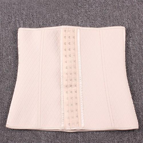 Cheap Milky Neoprene Steel Boned Lattice Pattern Fajas Waist Trainer