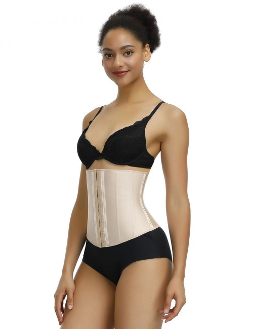 Comfortable Skin Color Waist Cincher Latex 13 Steel Boned Midsection Control