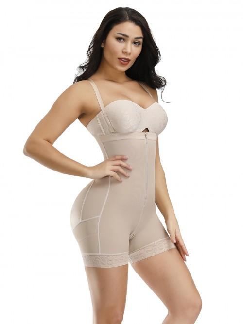 Durable Skin Zipper Plus Size Detachable Straps Body Shaper Body Slimmer