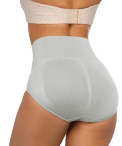Flatten Tummy Grey Seamless Butt Lifting Panty Warm Uterus Cool Fashion
