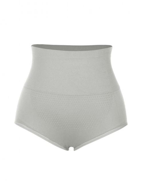 Flatten Tummy Grey Seamless Butt Lifting Panty Warm Uterus Cool Fashion