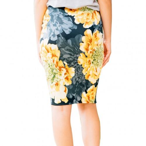 Form-Fitting Design Multi Color Skirt High Rise