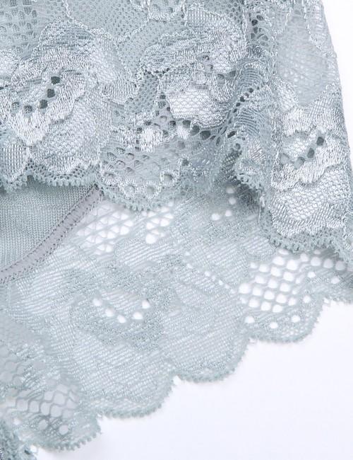 Medium Control Grey Plus Size Seamless Butt Enhancer Panty Floral Best Tummy