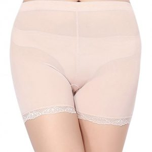 Nude Breathable Mesh Butt Lifter Instant Lift Girdle Panty with Removable Silicone Pads