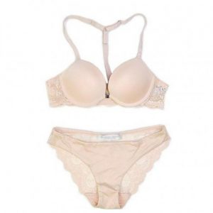 Nude Sexy Design Adjusted Straps Feisty Padded Panties And Bras