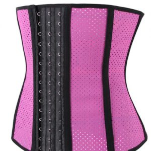Pink Tummy Slimmer Breathable Girdle Waist Trainer Cincher