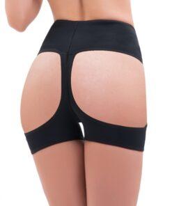 Plus Superfit Everyday Black Open Butt Lift Panty Boyshort Magicwear