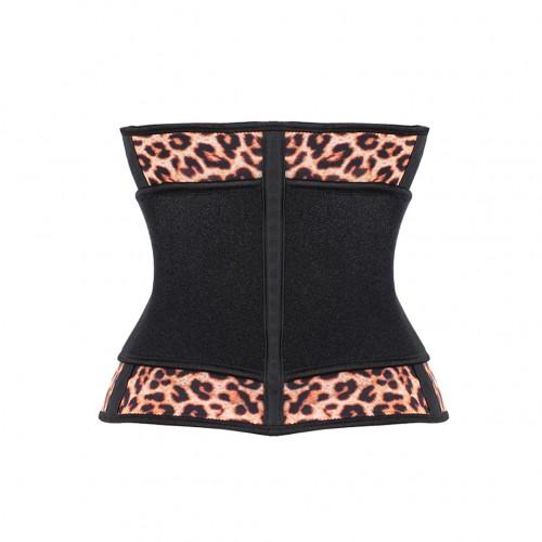Rubber Leopard Adjustable Waist Trimmer Belt Corset
