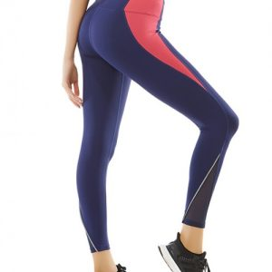 Seductive Navy Blue High Waist Mesh Sport Bottoms Toughness