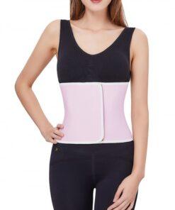 Slim Waist Pink Hourglass Shape Postpartum Belt Sticker Soft-Touch