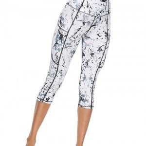 Smoothing High Waist 3/4 Length Yoga Legging Casual Wear