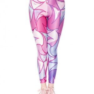 Super Sexy Rose Red Printed Crop Ankle Pants Digital Floral Unique Fashion