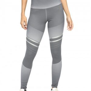 Trendy Gray Full-Length Yoga Legging High Rise Delightful Garment