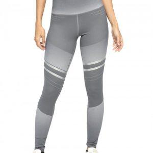 Trendy Gray Full-Length Yoga Legging High Rise Delightful Garment