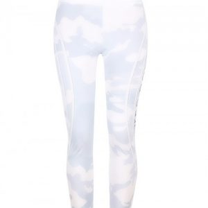 White Camouflage Print Yoga Leggings High Rise Fashion Forward