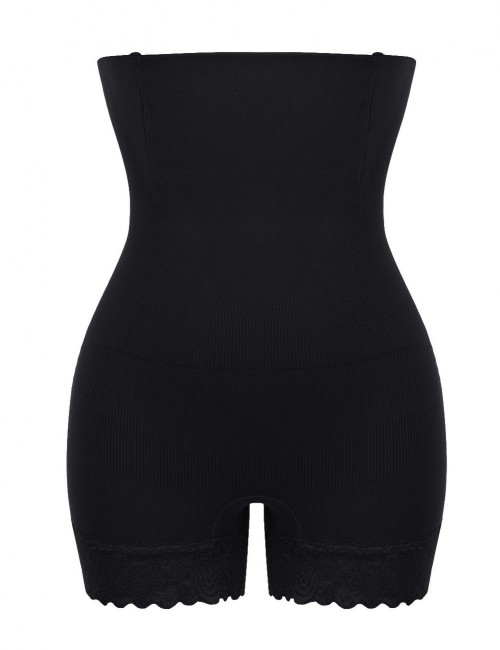 Women High Waist Black Tummy Control Panty Girdle Thigh Slimmer