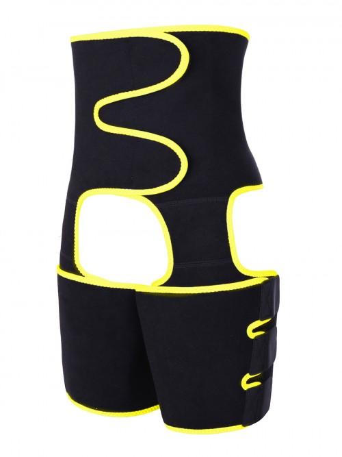 Enhancer Black Neoprene Thigh Trainer Butt Lifting Secret Slimming Yellow