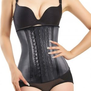 4 Steel Bones 100% Latex Waist Cincher Sport Weight Loss Corset