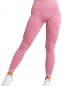Appealing Pink Sports Leggings High Waist Seamless Outdoor Activity