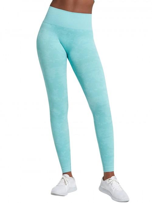 Appealing Light Blue Sports Leggings High Waist Seamless Outdoor Activity