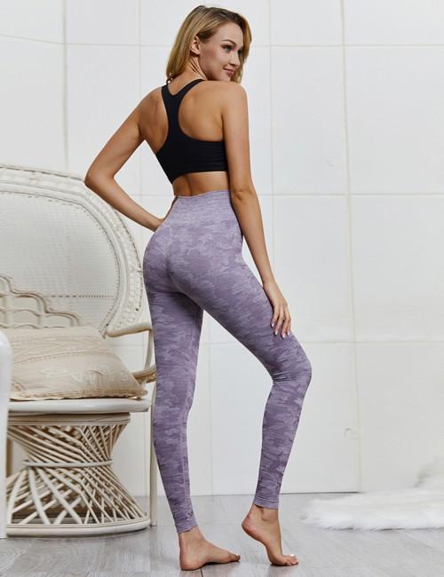 Appealing Purple Sports Leggings High Waist Seamless Outdoor Activity