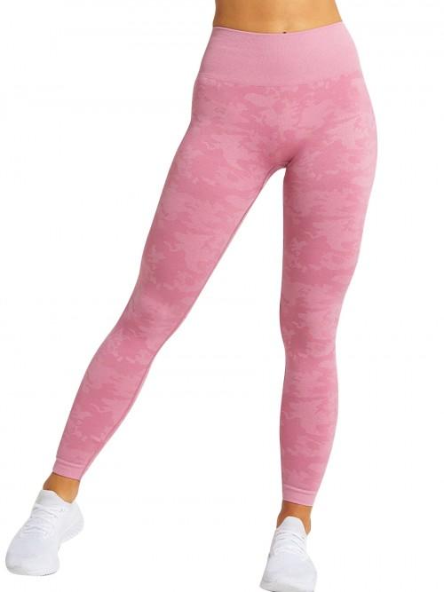 Appealing Pink Sports Leggings High Waist Seamless Outdoor Activity
