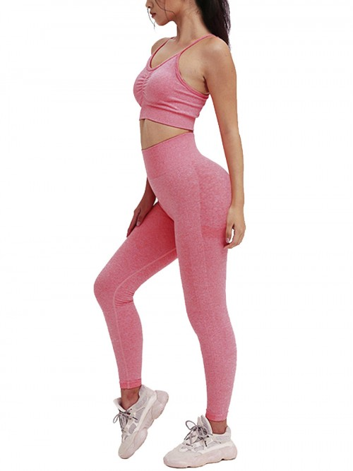 Astonishing Pink Adjustable Strap Cropped Sweat Suit
