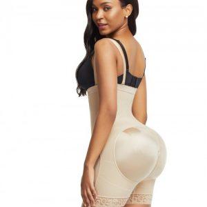 Bandage Skin Color Detachable Straps Side Zip Body Shaper Ultra Cheap