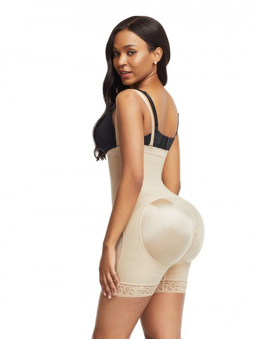 Bandage Skin Color Detachable Straps Side Zip Body Shaper Ultra Cheap