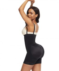 Bandage Black Detachable Straps Side Zip Body Shaper Ultra Cheap
