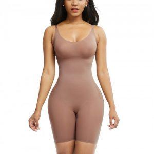 Skin Color Adjustable Straps Big Size Full Body Shaper Compression Silhouette
