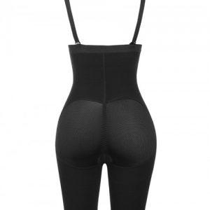 Black Detachable Straps Full Body Shaper Hook Plus Size Slimming Tummy