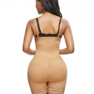 Skin Color Full Body Shaper Big Size Lace Trim Slimming Stomach