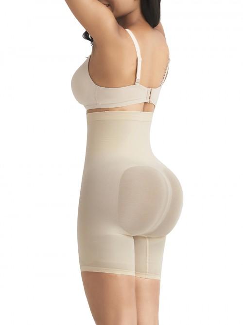Cream Tummy Control Seamless Butt Enhancer Delightful Garment