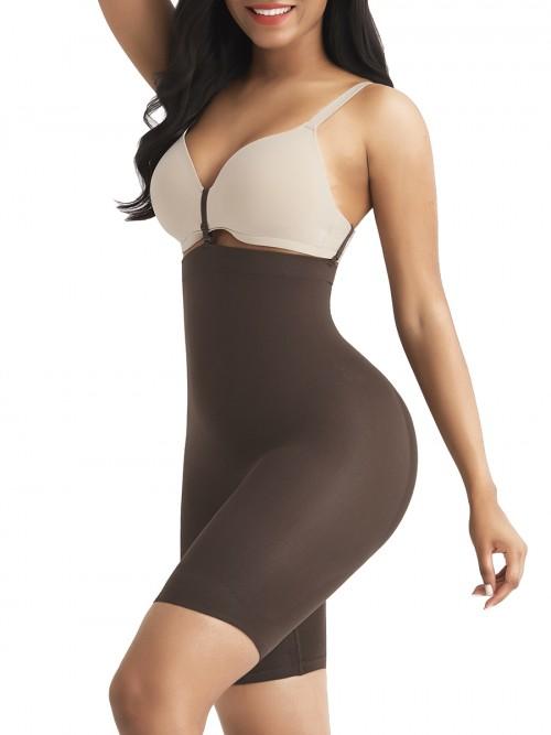 Dark Brown Tummy Control Seamless Butt Enhancer Delightful Garment