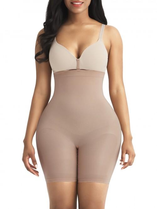 Light Coffee Tummy Control Seamless Butt Enhancer Delightful Garment