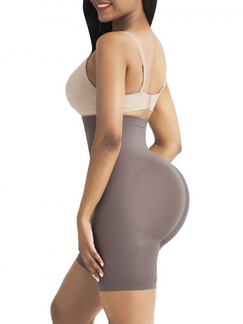 Purple Tummy Control Seamless Butt Enhancer Delightful Garment